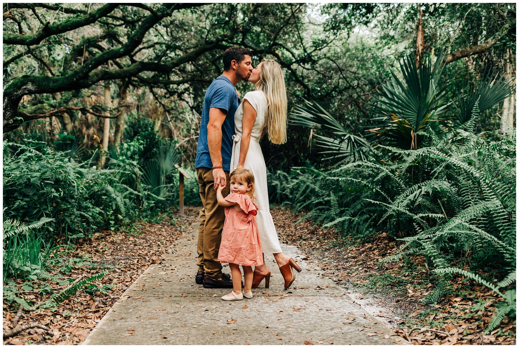 Family session at Delray Oaks Natural Area